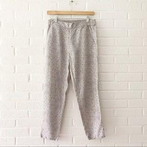 Gap Print Lilac Tencel Ankle Pants XS